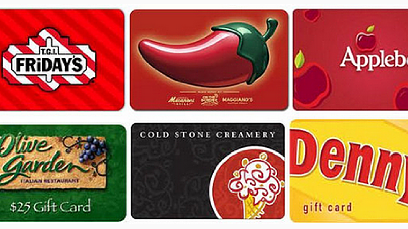 Restaurants gift cards online